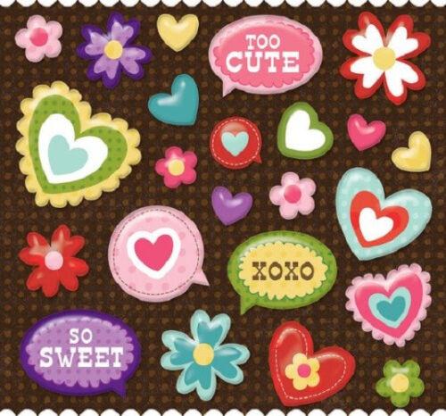 K/&Company Ka-Zoo Icon Pillow Stickers 23pcs