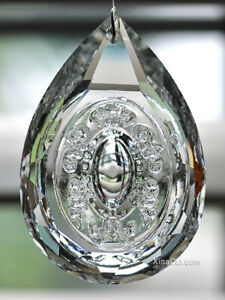 Bubble-Illusion-Pear-SunCatcher-76mm-Austrian-Crystal-Clear-Prism-3-034