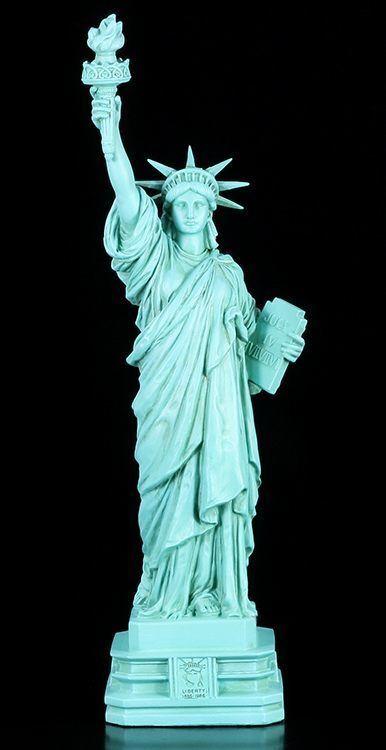 Freiheitsstatue Figur originalfarben - Statue of Liberty - New York Veronese