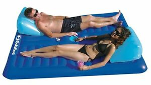 Swimline-16141SF-Swimming-Pool-Inflatable-Durable-Floating-2-Person-Air-Mattress