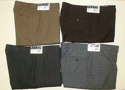 NWT $69 POLO RALPH LAUREN DRESS PANTS MENS 32 x 30 FLAT FRONT TAN MODERN NEW