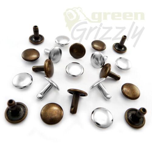 7 mm stem Double cap dot rivets 7 mm cap AP5 belt bags shoes leather craft