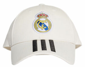adidas-Real-Madrid-3-Stripe-Cap-White-One-Size-RRP-20-CY5600-FREE-POSTAGE