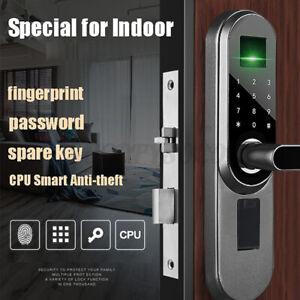 Door Lock Smart Digital Electronic Fingerprint Password Key Keypad Security