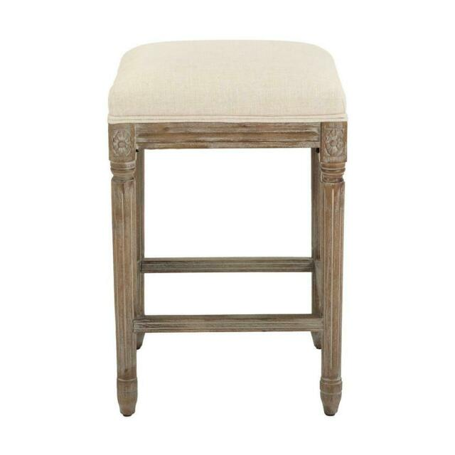 Home Decorators Jacques 25 25 In Natural Cushioned Counter Stool Antique Brown