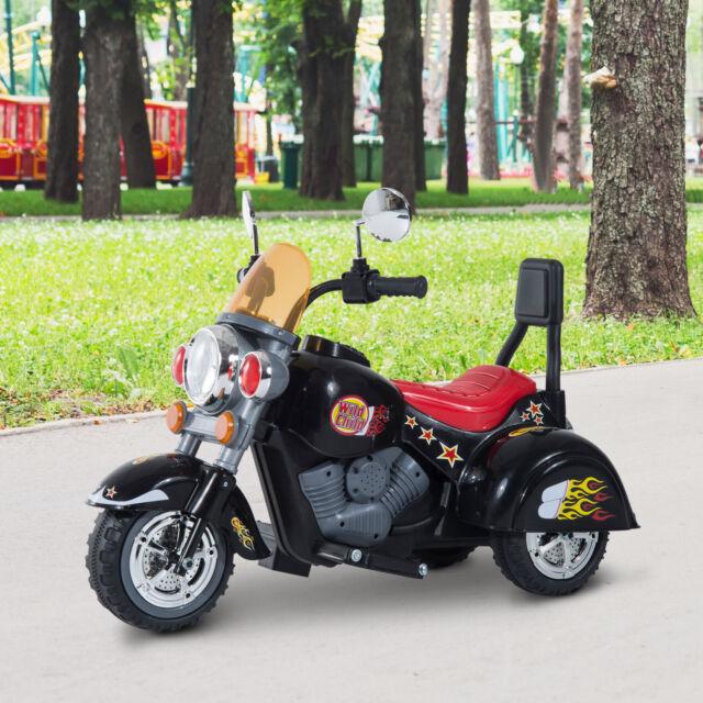 HOMCOM Moto Eléctrica Niños +3 Años Batería Recargable Cargador 2.5km/h