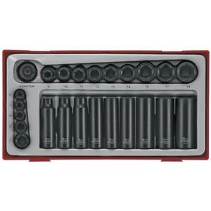Teng-Tools-24-Pce-Impact-Socket-Set-1-4-3-8-Drive-Regular-Deep-in-Case