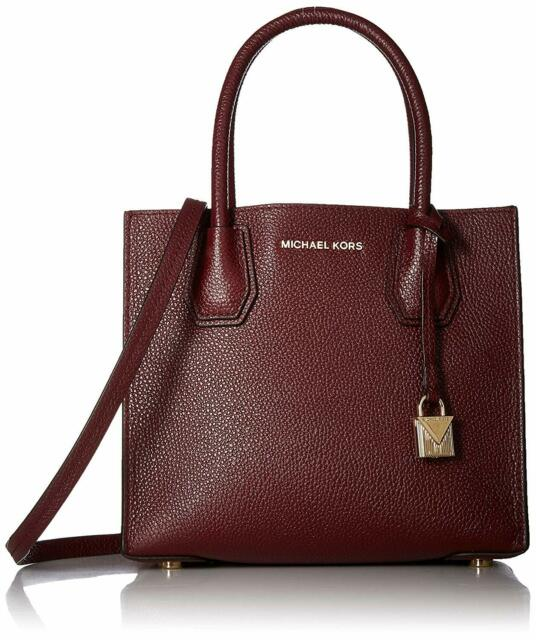6303227927bb Michael Kors Mercer Medium Messenger Leather Crossbody Bag Oxblood ...