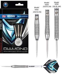 Winmau Diamond Fusion 90% Tungstène Acier Tip Darts-choisir Parmi 3 Designs-afficher Le Titre D'origine