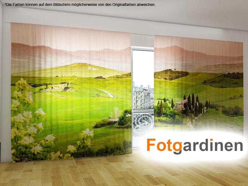 Foto tendine  Toscana  sipario con motivo, 3d STAMPA FOTOGRAFICA, FOTO sipario, su misura