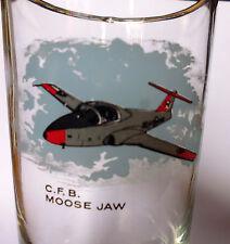 vintage GLASS verre CFB MOOSE JAW  snow birds 15 WING Canadair CT-114 Tutor RCAF