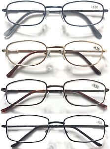 Classic-Style-Metal-Reading-Glasses-Spring-Hinges-Multi-Colour-amp-Shape-0-50-5-50