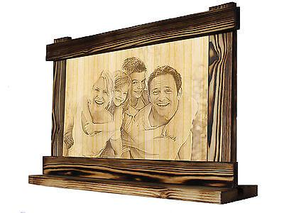 Fotogravur Holzbild Lasergravur Ihr Foto, Motiv auf Holz - tolle Geschenkidee