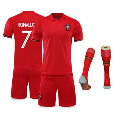 20-21 Kids Home Away Football Kits Boy Adult Soccer Jersey Shorts Socks Portugal