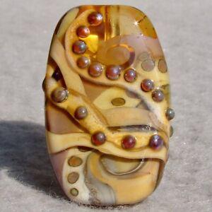 CAMINANDO-Handmade-Art-Glass-Focal-Bead-Flaming-Fools-Lampwork-Art-Glass-SRA