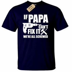 If-PAPA-cant-fix-it-T-Shirt-funny-gift-dad-grandad-Mens