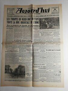 N254-La-Une-Du-Journal-Aujourd-039-hui-9-juin-1944-troupes-Reich-nettoye