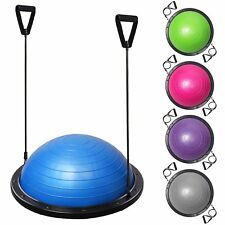 "23"" Yoga Half Ball Balance Trainer Exercise Fitness Strength Gym Workout w/ Pump"