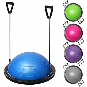 23-034-Yoga-Half-Ball-Balance-Trainer-Exercise-Fitness-Strength-Gym-Workout-w-Pump