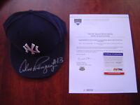 NEW YORK YANKEES ALEX RODRIGUEZ GAME USED SIGNED 660 HR HAT WILLIE MAYS STEINER