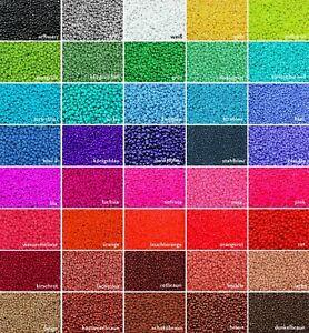 INWARIA-Rocailles-opak-2-3-4-mm-20-100-g-Perlen-satte-Farben-Glasperlen-RP-33