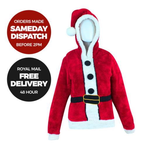 Father Christmas Jumper Santa Suit Girls Womens Xmas Jumper Sweater Warm Novelty