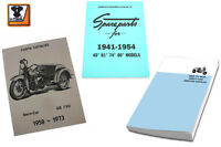 Servi-car Harley Manual Set 3 Books Spare Parts Model 1937 - 1963 Flathead
