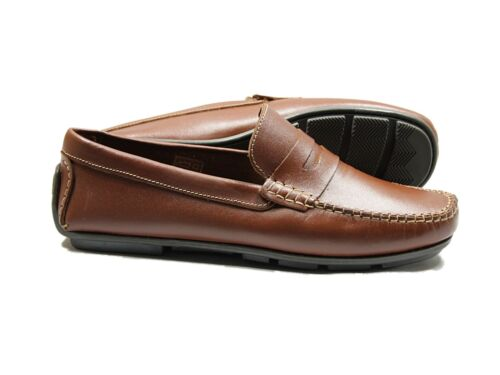 Lucini Men/'s Leather Slip On Smart Driving Shoes Casual Formal Summer Boots