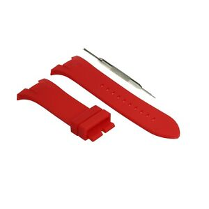 7a35bf86c18 31mm Red Rubber Watch Strap Fits Armani Exchange AX1186 AX1040 ...