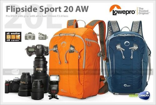 Lowepro Flipside Sport 20L AW Backpack for Camera New ORANGE /& BLUE COLORS