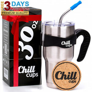 Insulated Travel Coffee Mug,Double Wall,Stainless Steel ...