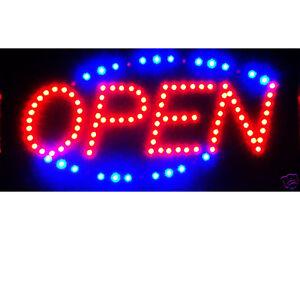 illuminated led light animated open store business sign kamrock lights. Black Bedroom Furniture Sets. Home Design Ideas