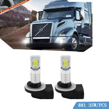 Pair 881 896 Fog Light 70w Led Replacement Bulb For Volvo Vnl Vn 2003 2015