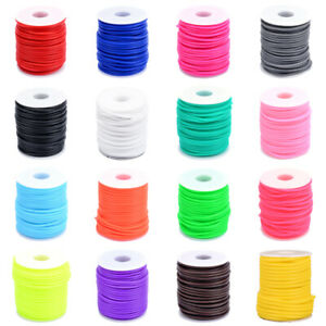 1-Roll-Hollow-Pipe-Tubing-Rubber-Cords-Round-Craft-Rope-Strings-2mm-3mm-4mm