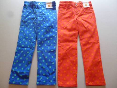 Gymboree Color Happy Jeans Pants Orange OR Blue w//Polka Dots Size 4  5 6 12 NEW