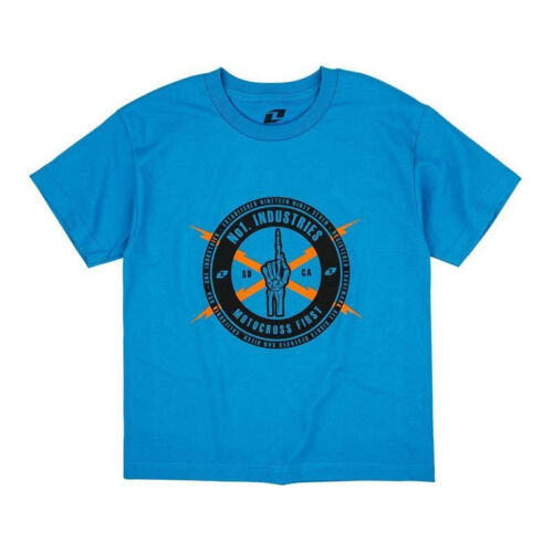 ONE INDUSTRIES KIDS YOUTH T-SHIRT NO.1 TEE TURQUOISE boy motocross mx