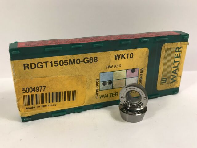 Qty 10 NEW Walter Select Carbide Inserts RDGT2006M0-G88 WK10