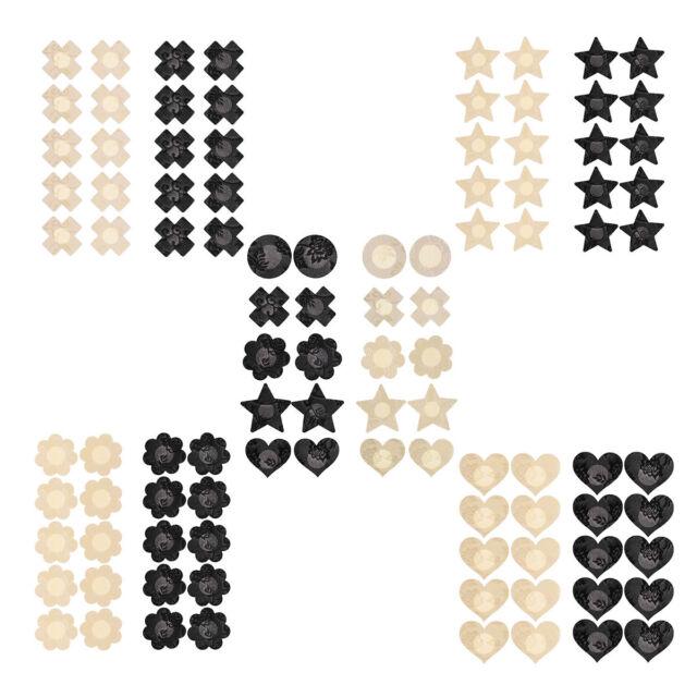 8 Pairs Women Disposable Pasties Nipple Cover Lingerie Sticker 8 Pairs Black Cat