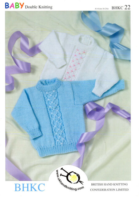 93ccfe4aae48 BHKC Baby Double Knitting Pattern 22 Sweaters 16 - 24 Ins