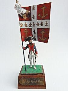 Soldat De Plomb Hf - Porte Drapeau Marine Régiment Du Port Brest 1779