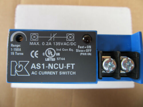 NK Technologies AS1-NCU-FT Split Core AC Current Sensing Switch 1-150 A Neuf!!!