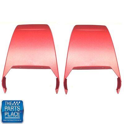 1967-70 Chevrolet Camaro Pontiac Firebird Bucket Seat Backs Red Pair