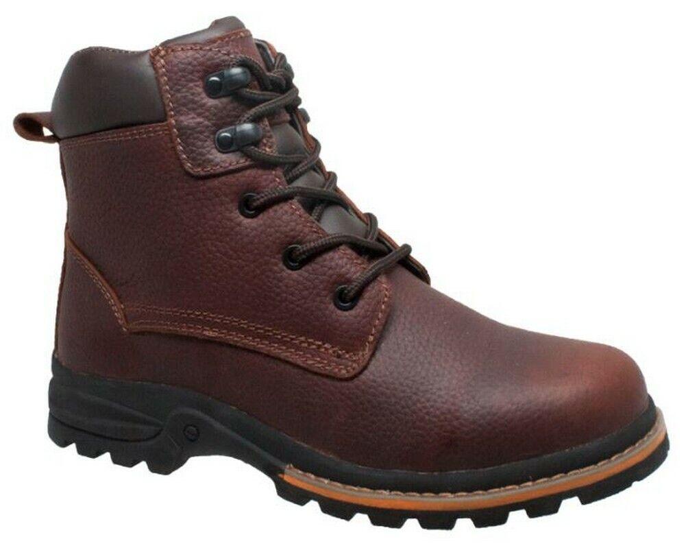 Adtec Men's 6  Clásico botas De Trabajo Puntera De Cuero Marrón Engrasado Suave 9800