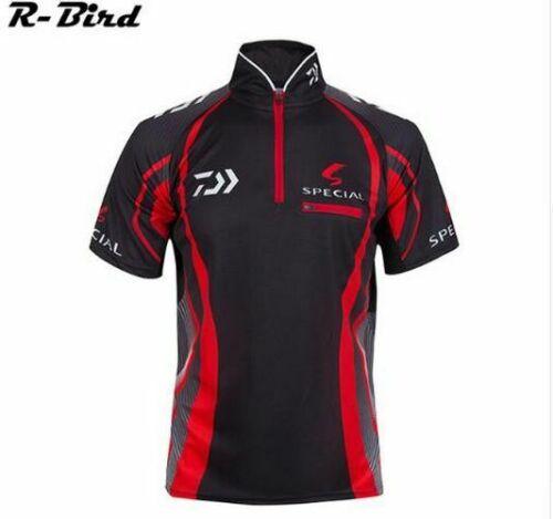 Men/'s Short Sleeve Fishing Shirt Breathable Quick-dry Anti-UV Outdoor Clothing