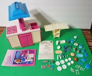 Vintage-1984-Barbie-Dream-Kitchen-Set-Mattel-9119-Pots-Pans-Refrigerator-Oven