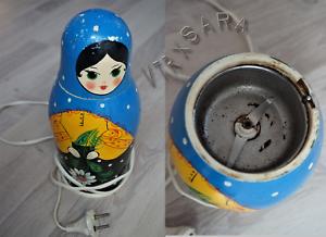 Schöne Matroschka Babuschka Elektrische Kaffeemühle Messer Defekt Udssr äRger LöSchen Und Durst LöSchen Ddr & Ostalgie