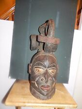 "Arts of Africa - Yoruba Bird Mask - Nigeria - 10"" W x 23"" H"