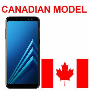 Samsung A8 2018 32GB Canadian Model Black/ Orchid Grey Unlocked A530W Smartphone