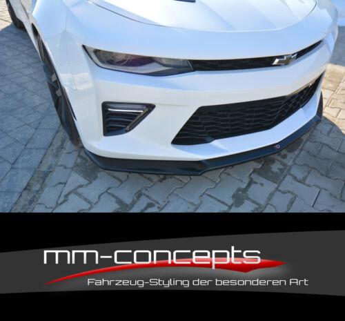 Cup Spoilerlippe SCHWARZ Chevrolet Camaro 6 TH PH I 2SS Frontspoiler Schwert V2