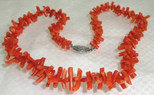 Vintage Necklace With Genuine CORAL Branch es Spik